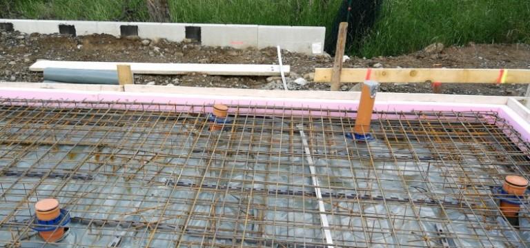 Vor Giessen Der Bodenplatte Bungalow Bauen