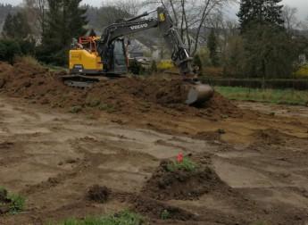Mutterboden abgraben