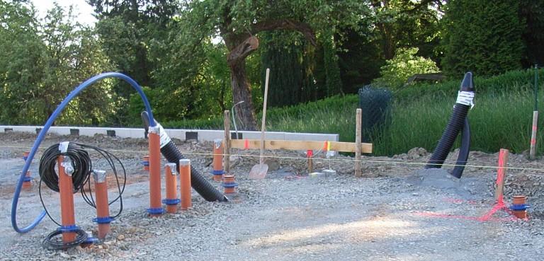 Schalung Der Bodenplatte Bungalow Bauen