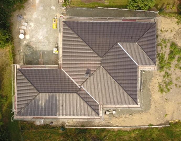Dach ist gedeckt Drohne