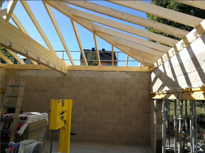 Dachstuhl Garage mit Zwischendecke