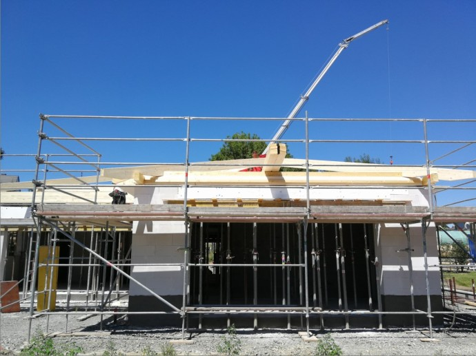 Dachstuhl große Balken