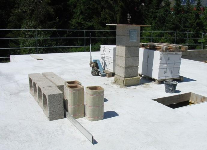 Decke betoniert - Kamin 2