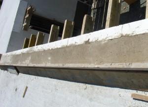 Decke betoniert - Wohnzimmerfenster