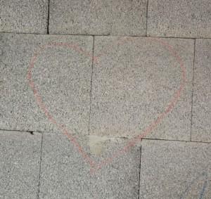 Herz an der Wand