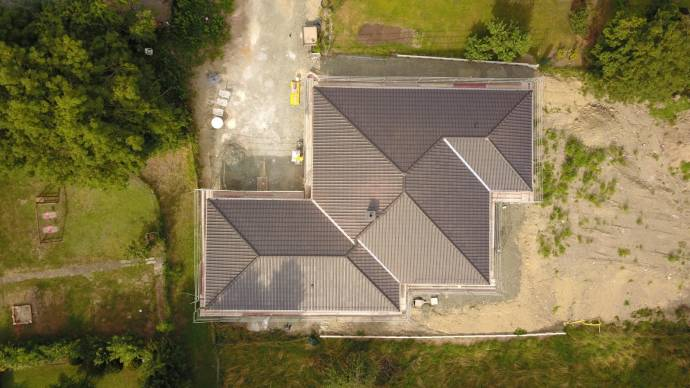 Luftaufnahme Dach