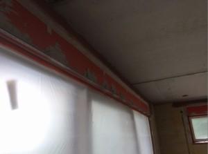 Verputzen Fenster abgeklebt