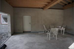 Estrich Garage Trennschiene