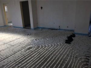 Fußbodenheizung WC mehrere Heizkreise