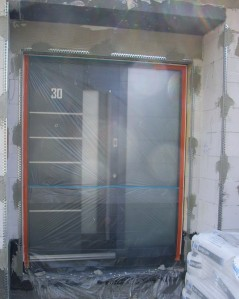 Vorbereitung Außenputz Putzleisten Haustür