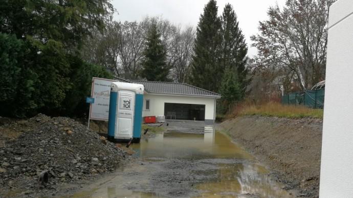 Einfahrt unter Wasser