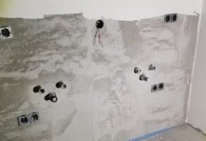 Installationswand Elternbad