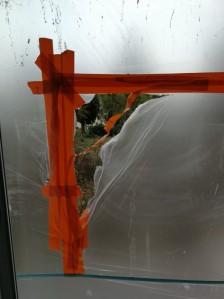 Fenster mit Folie