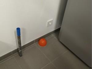 Blower Door Dichtung Wasserwerk mit Luftballon