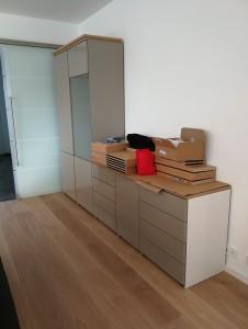 möbel aufbau Wohnzimmerschrank